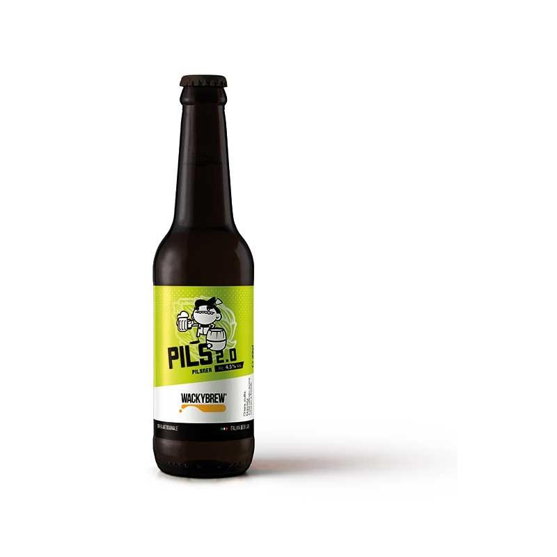 """Pilsner Craft Beer """"Pils 2.0"""" 33cl - Wackybrew"""