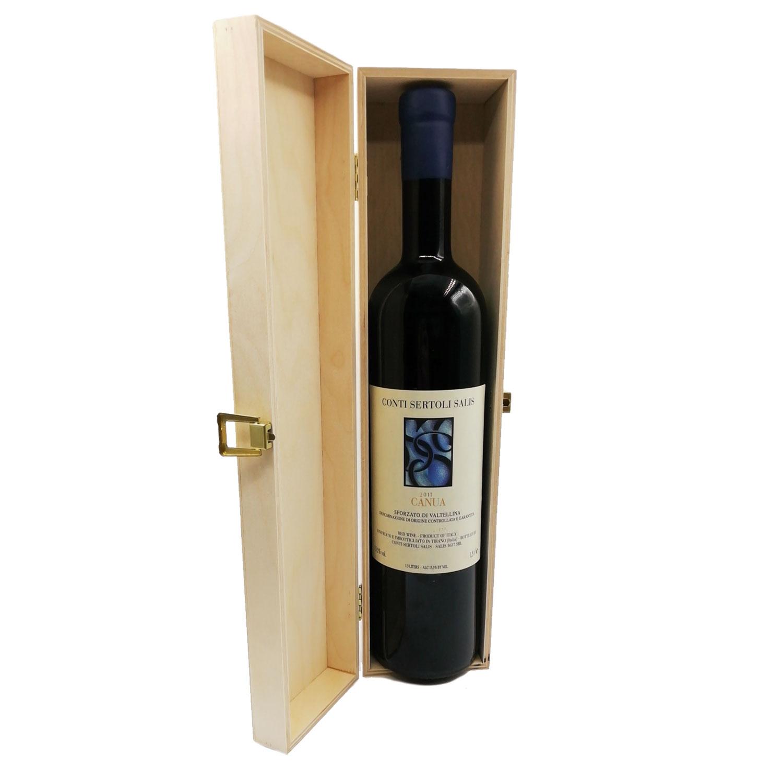 """Sforzato di Valtellina DOCG 2011 """"Canua"""" Magnum (cassetta di legno) - Conti Sertoli Salis"""