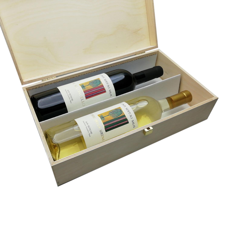 Saloncello+Torre della Sirena 2Box (cassetta di legno) - Conti Sertoli Salis