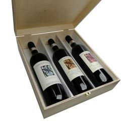 """""""Canua+Corte della Meridiana+Capo di Terra"""" 3Box (cassetta di legno) - Conti Sertoli Salis"""