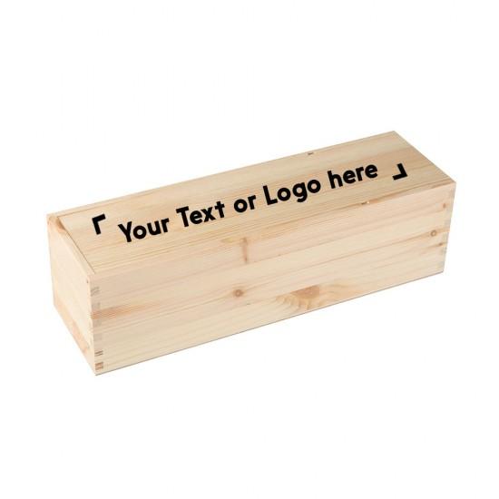 Custom Wood Box for 1 bottle