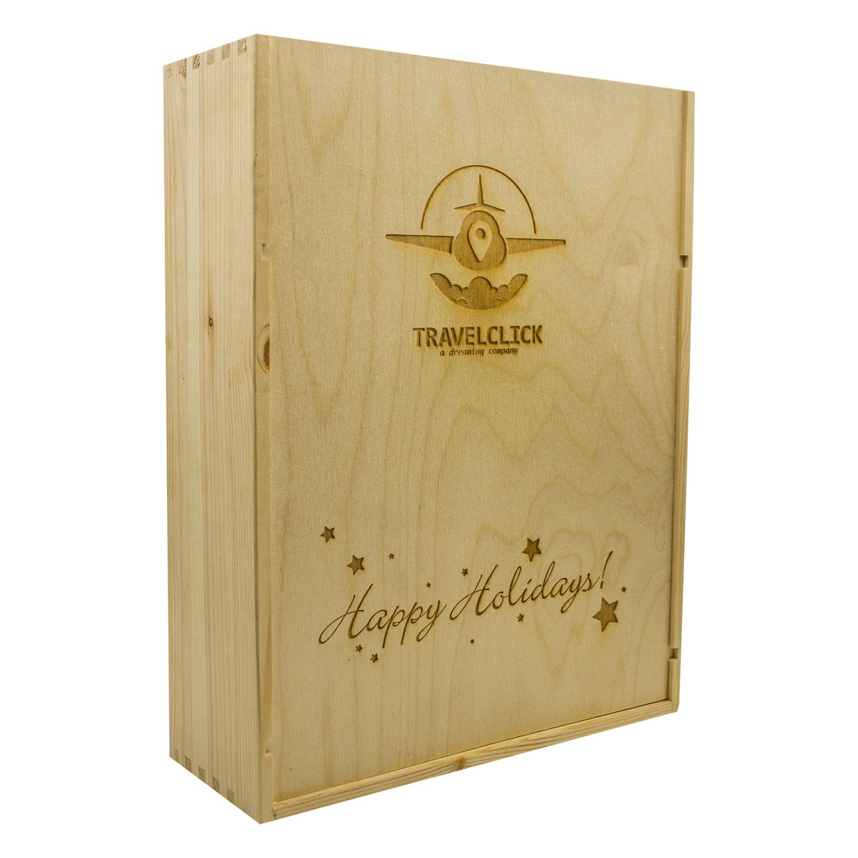 Custom Wood Box for 3 bottles
