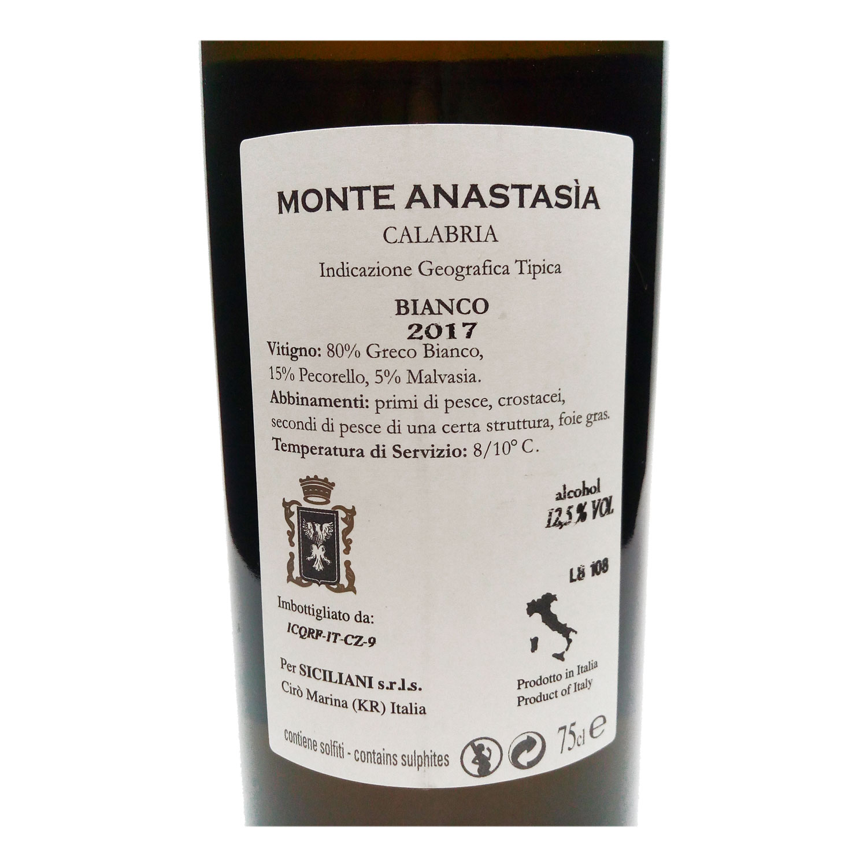 "Calabria Bianco IGT Cirò ""Monte Anastasia"" 2018 - Siciliani"
