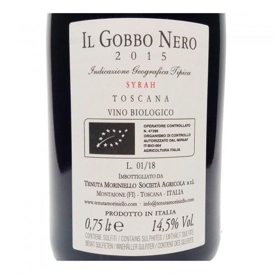 """Toscana IGT Syrah Biologico """"Il Gobbo Nero"""" 2015 - Tenuta Moriniello"""